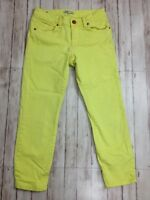 Women's CAbi Limon Bree Yellow Skinny Ankle Crop Capri Jeans Pants Sz 2 (28x25)