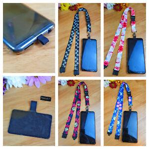 SpiriuS Mobile Phone Neck Lanyard Strap Holder Case with Universal Patch Tab