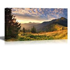 "Canvas - Autumn Landscape in the Mountains at Sunrise Nature Beauty- 24"" x 48"""