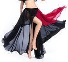 New Belly Dance Chiffon Split Skirt Coiling Skirt Two-color Skirt 3 colors