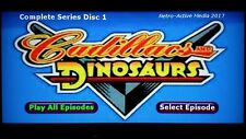 Cadillacs and Dinosaurs COMPLETE series on DVD 3 disc set 1993 TV show cartoon