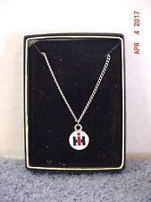 IH International Harvester round logo necklace, NIB
