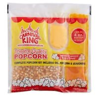 24/Case Carnival King All-In-One Popcorn Kit For 4 Oz. Popper Ready to Use Pop