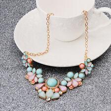 Fashion Women Rhinestone Bib Pendant Collar Choker Chain Statement Necklace Gift