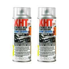 2x E-Tech XHT CLEAR LACQUER 400ML Extremely High Temperature Paint VHT Exhaust