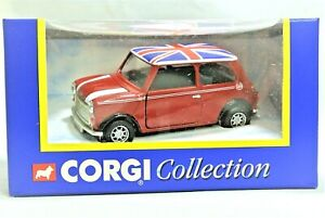 Mint Corgi 04410 Mini in Flame Red & White with Union Flag on Roof