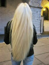 Full white platinum  blonde straight hair. lace front wig.human Hair Blend