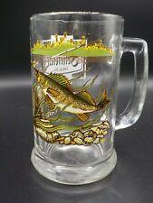 Vintage Schmidt Beer Collector Series Glass Mug IV Walleye Fish Excellent!