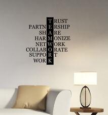 Teamwork Wall Decal Work Inspirational Words Vinyl Sticker Art Office Decor hq29