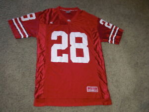 OHIO STATE BUCKEYES #28 red Football Jersey men's Large
