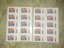 NEW USPS FOREVER Postage Stamps of 'US FLAGS' 2 SHEETS-20 ct.-FREE SHIP!