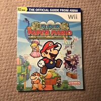 Official Nintendo Super Paper Mario Player's Guide EXCELLENT CONDITION