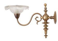 Traumhafte original Jugendstil Wandlampe Wandleuchte Messing EZAN Paris 1920