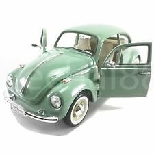 Welly 1:24 Die-Cast Volkswagen Beetle Hard-Top Car Green Color Model Collection
