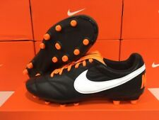 New Nike Men's Premier 2 Fg Leather Soccer Cleats (Black/White/Orange) Size: 12