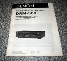 DENON DRM-500 Stereo Tape Deck Original Genuine Instruction / Operating Manual