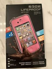 NEW Lifeproof fre Waterproof Case For Apple iPhone 4 / 4S - Pink / Gray - SEALED