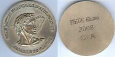 Médaille de table - Fédération française athlétisme 2008 E. FIHUE platine d=79mm