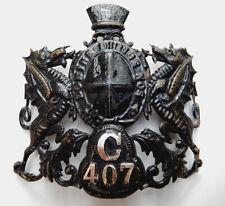 ANTIQUE BRITISH CITY OF LONDON POLICE HELMET OLD CAP BADGE 1900'S