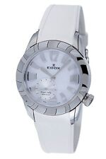 Edox Women's 23087 3 NAIN Royal Lady Mother Of Pearl Dial White Rubber Watch