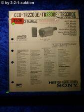 Sony Service Manual Ccd TR2200E/TR2300E/TR3300E (#3536)