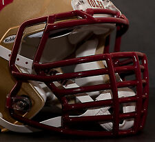 JUSTIN TUCK style Riddell Revolution SPEED Football Helmet Facemask - CARDINAL
