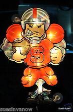 North Carolina State Decal suction sticker w/ lights Window College Football