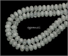 "15.8"" Aquamarine Rondelle Roundel Beads 6.5-7mm #56021"