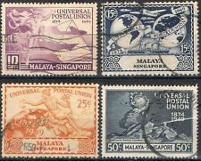 Singapore stamps - 1949 Universal Postal Union 4v set postally Used