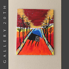 SHELTER! SURREALIST ABSTRACT OIL PAINTING! ART EDVARD MUNCH MAX BECKMANN VINTAGE