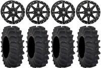 "STI HD10 14"" Wheels Black 28"" XM310 Tires Textron Wildcat XX"