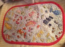 Colorful Cartoon Women Golf Bags Placemats 4 Reversible Handmade Tea Party Cute!