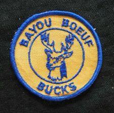 "C1970 "" Bayou Boeuf Elementary École Bucks "" Thibodaux La Louisiane Veste Patch"