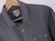 f059 Reiss Camisa top Gamblin Informal poppers original premium talla L