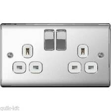 BG Nexus Polished Chrome Switches & Sockets with White Inserts