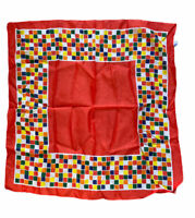 Gena's Pride Vintage Square Scarf Multi-Colored Gingham Pattern 25 in. x 26 in.