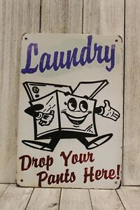 Laundry Room Tin Sign Poster Wall Art Decor Vintage Ad Style Look Rustic
