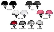 1/2 Shell Motorcycle Helmet D.O.T. DAYTONA SKULL CAP - Choose Your Size & Color