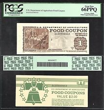 USDA Food Coupon - 1 Dollar - 1996 - PCGS66PPQ - Coupon plus booklet cover