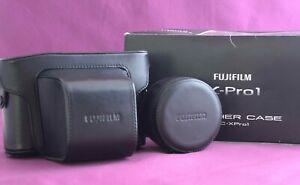 Fujifilm LC-XPro1 Premium Leather Full Half + Lens hood Case  Fuji X-Pro1 2159E