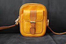LOUIS VUITTON Christie PM Vernis Shoulder Yellow France Authentic LV 89911