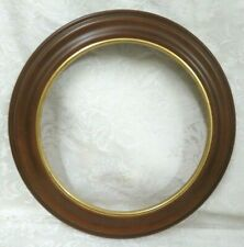 "Van Hygan Smythe Wood Plate Frame with Gold Trim Round Plate Holder~ 8.5"" Plates"