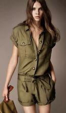NEW $550 Burberry Brit Safari Style Olive Jumpsuit Playsuit Romper US 6 ITA 40