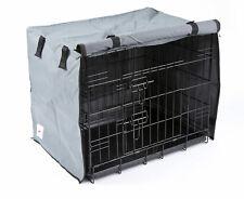 2 Door Waterproof Dog Crate Covers, Grey, Fit Small, Medium, Intermediate, Large