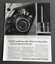 Air Force Recon Camera Kodak   WWII Ad