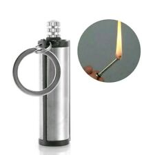 Stainless Steel Permanent Matches FlintFire Starter Survial Tool Keyring US SHIP