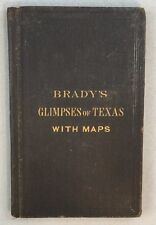 Scarce 1871 WM Brady Glimpses of Texas Its Divisions Resources (Partial Map)