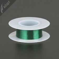 Magnet Wire, Enameled Copper, Green, 43 AWG (gauge), 155C, ~1 oz, 4000ft pickup