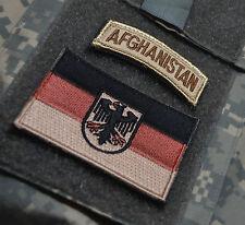 KANDAHAR WHACKER© NATO ISAF KSK SP OPS FLAG: GERMAN Bundeswehr + AFGHANISTAN TAB