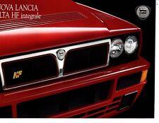 Lancia Delta HF integrale Nuova Italian 1992 Brochure Prospekt Catalog